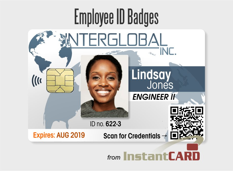 Employee badges id cards free template design for Staff id badge template