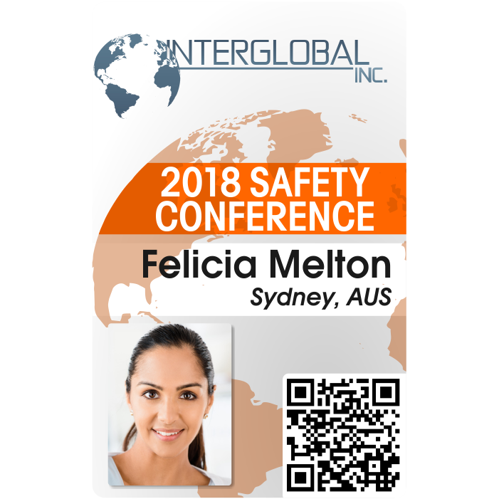 employee safety conference badge