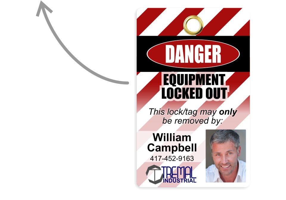 Example lockout tagout card design