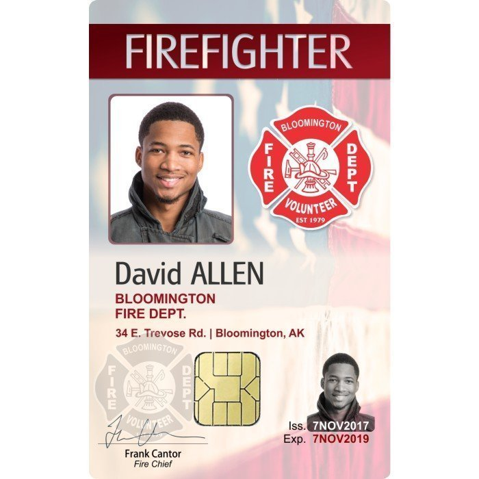 bloomington fire department example id