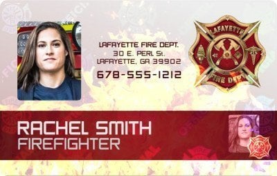 Fire Department ID card holographic overlay