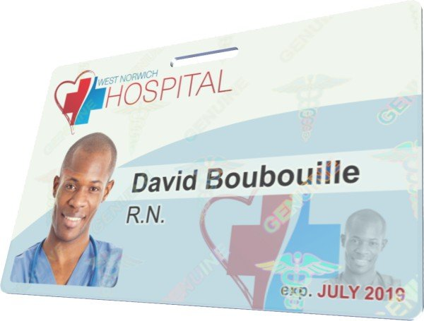 Hospital ID with Holographic Overlay