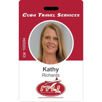 Cuba travel services ID card