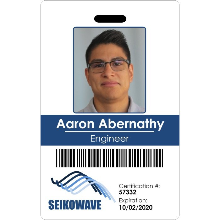 Seikowave employee photo ID