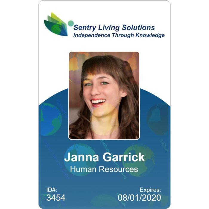 sentry Living ID card example