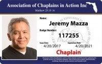 ACA chaplains ID card