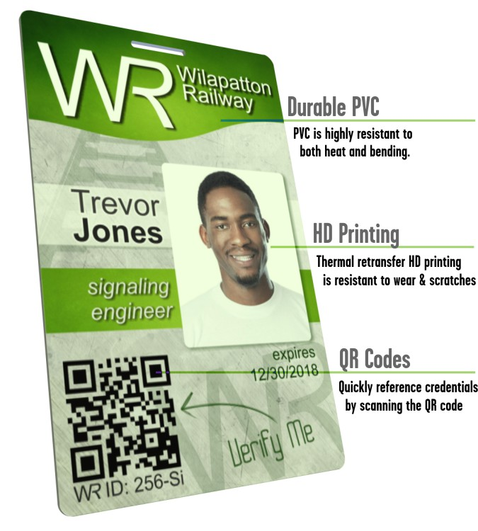 durable credential verification id cards