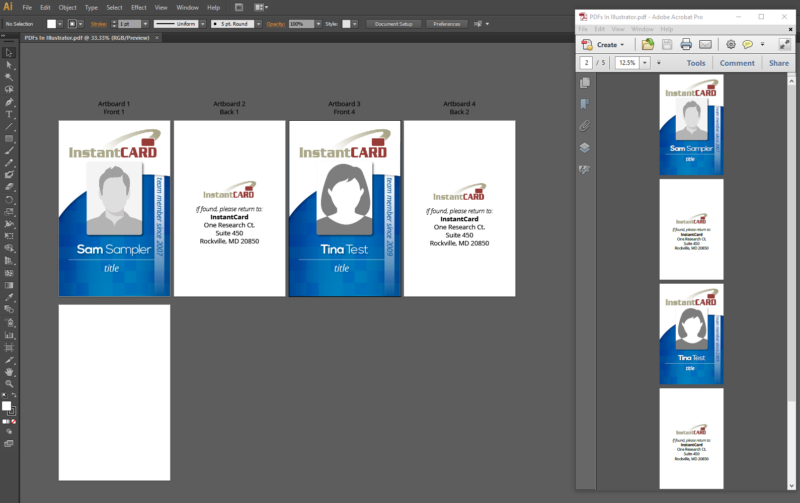 ID Card design tips – PDFs