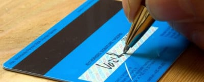 signature on credit card