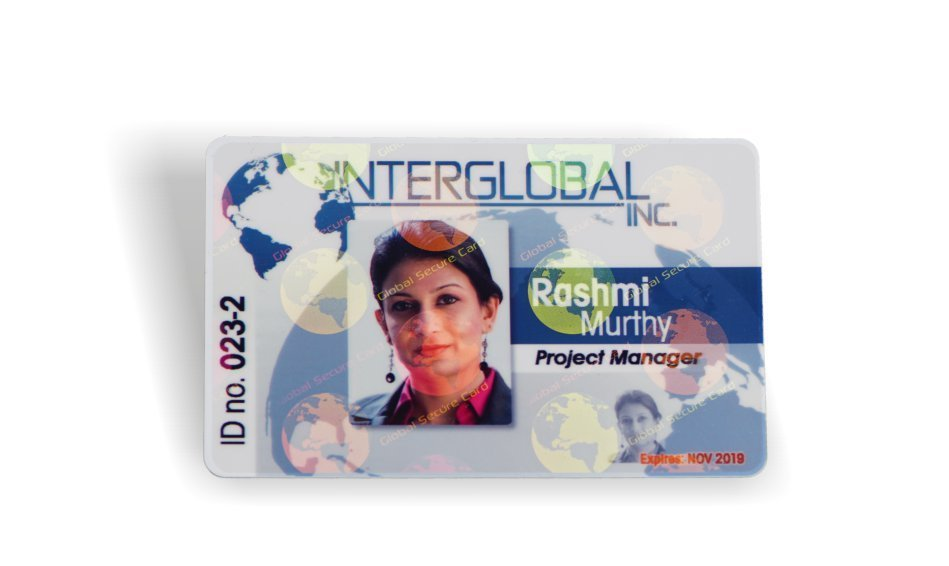 General holographic overlay id card