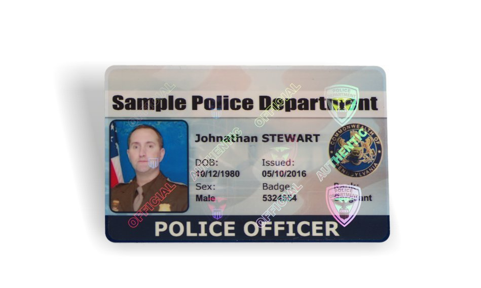 police id card holograph