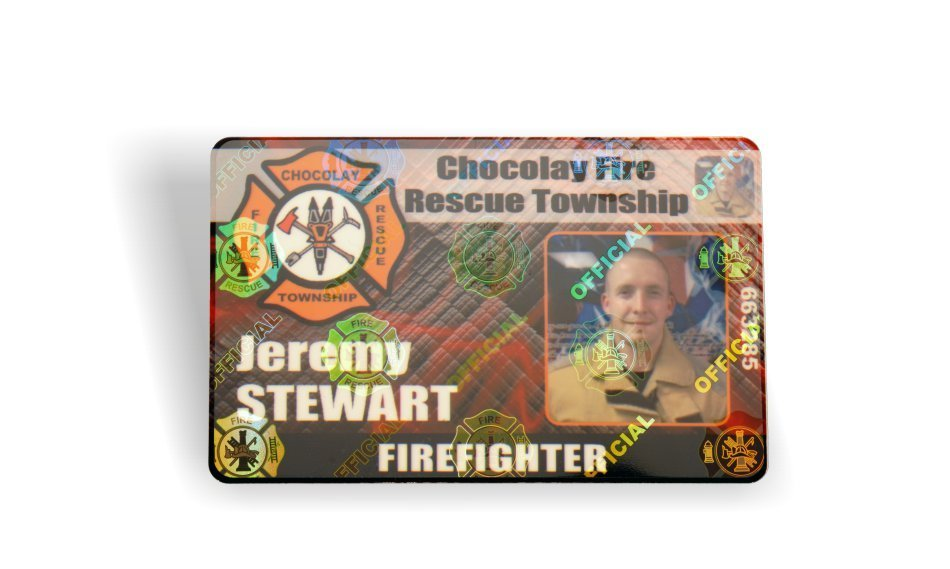 fire department id card holograph
