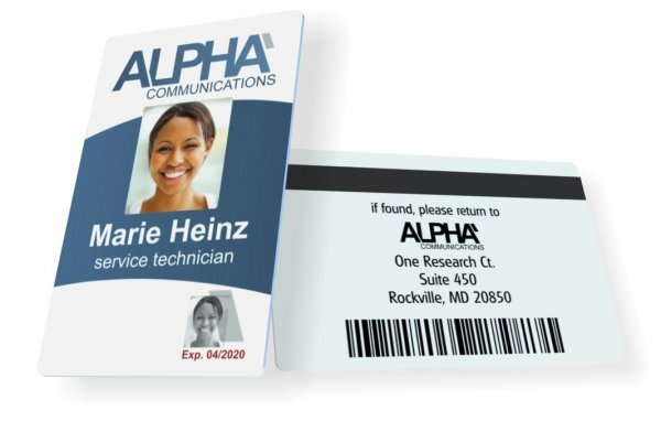 instantcard order employee id cards badges online with free design