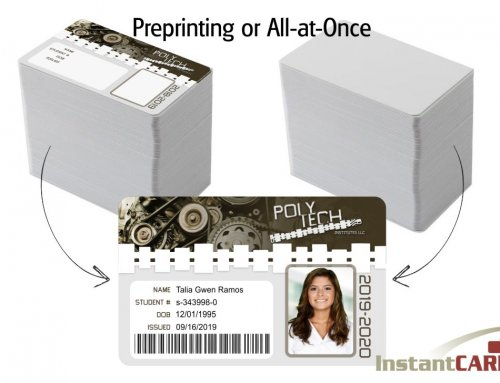 Pre-Printing Graphics on ID cards vs. Printing All-at-Once