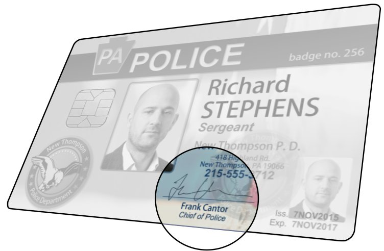 Police ID signature