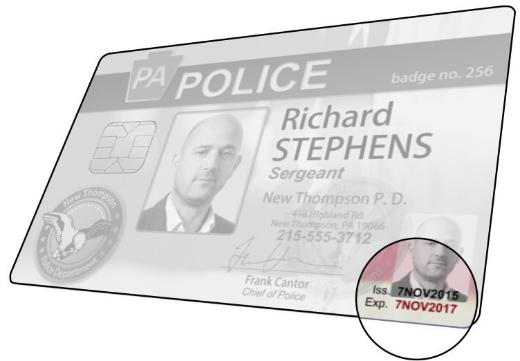 Police ID Security: Overlapping Data