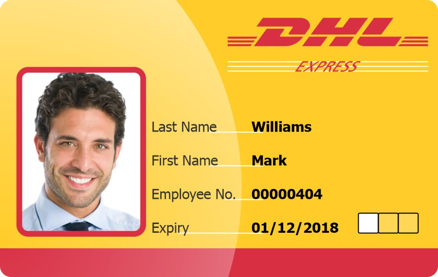 DHL Express ID Badge