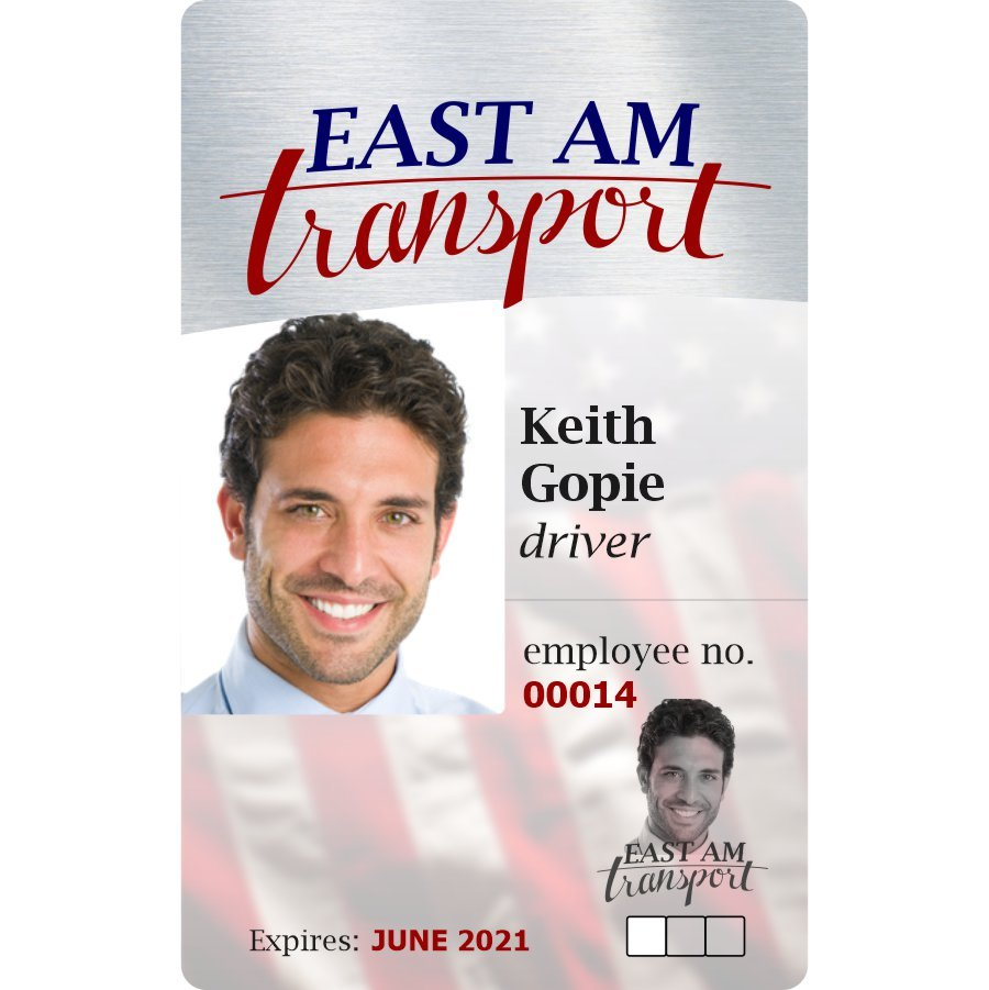 Transportation & Delivery ID Badge