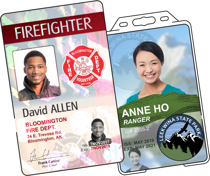 Firefighter and Ranger IDs