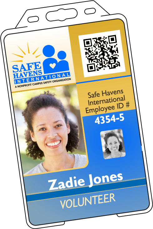 Nonprofit ID badge in Holder | NPO