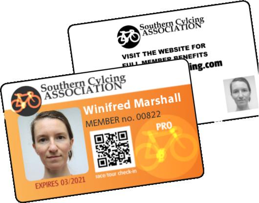 Cycling Association membership ID Card