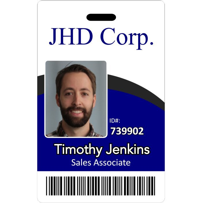 JHD Corporation Employee ID Badge