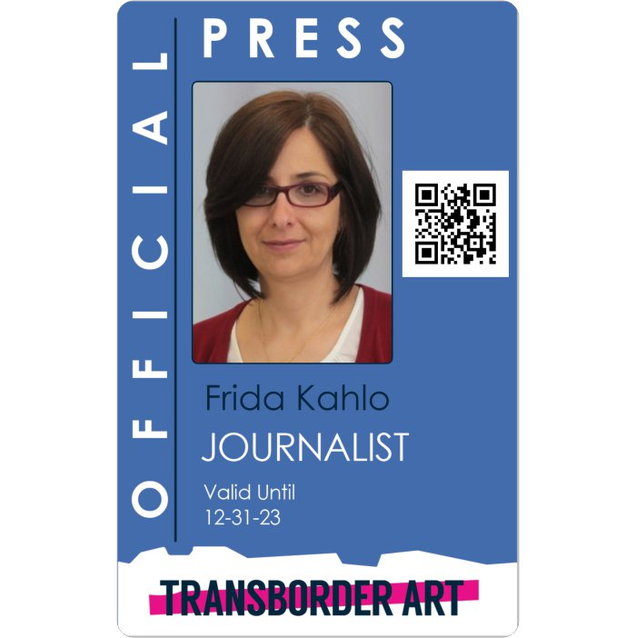 Transborder Art Press Pass