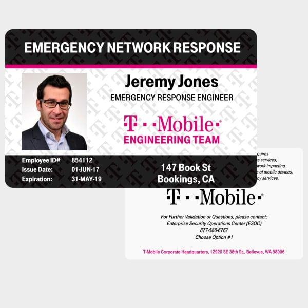 T-Mobile Coronavirus ID Card