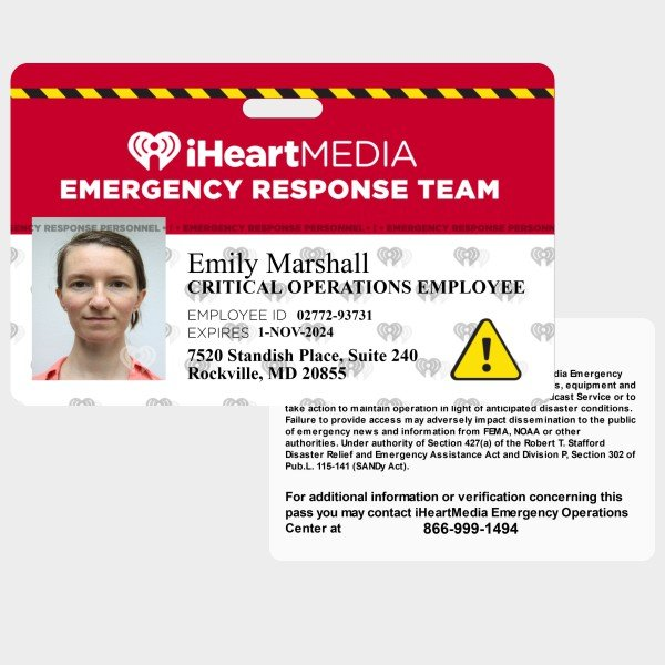 iHeart MEdia Coronavirus ID Card