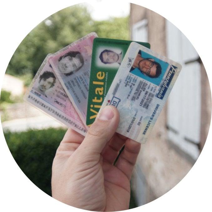 pick an ID card