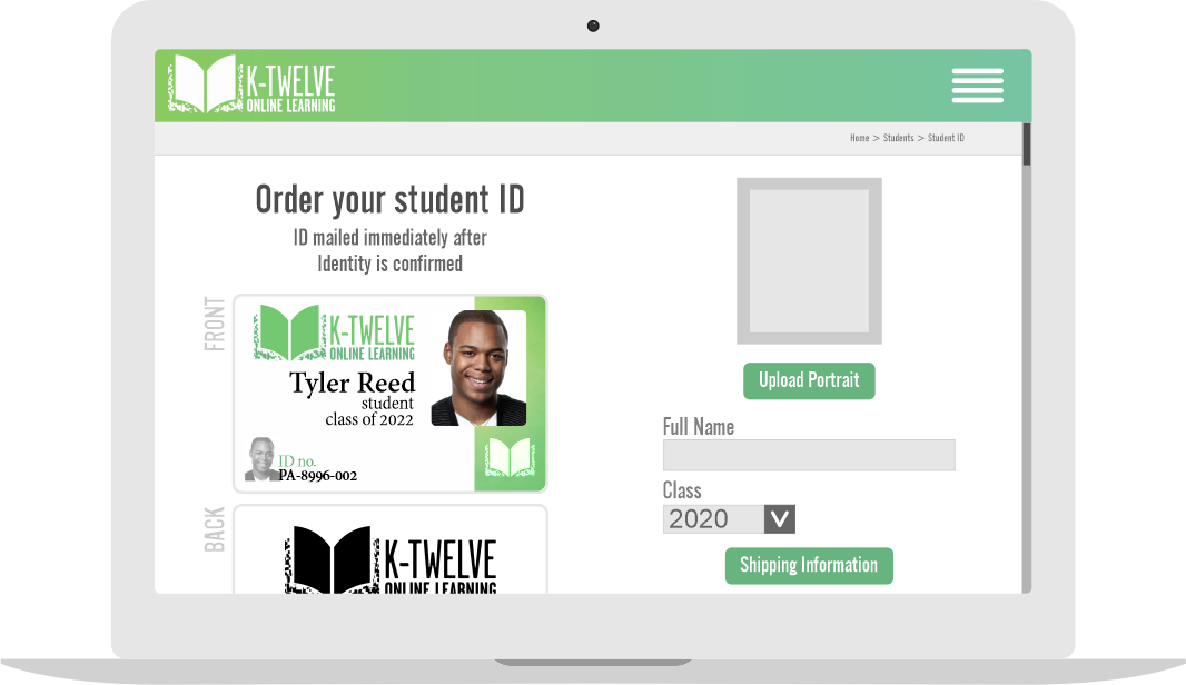 Order Student IDs from your site